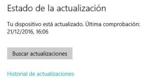 Actualizacion de windows